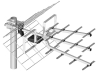 UHF TV antenna Dipol 17/21-69 Tri-Digit MINI